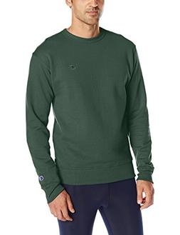 Champion Men's Powerblend Sweats Pullover Crew Dark Green M