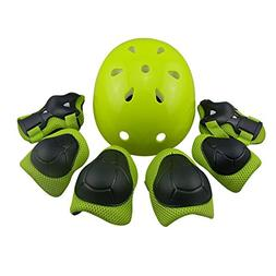 WOLFBUSH Kids Protective Gear, 7Pcs Set Elbow Wrist Knee Pad