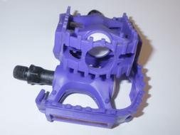 "PURPLE JUNIOR BICYCLE PEDALS 1/2"" BIKE PARTS 170"