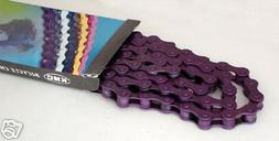 "KMC PURPLE Z410 BMX CHAIN *NEW* 1/2""X1/8"" race street"