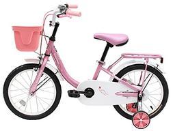 """Venzo Children 16"""" Push Kids Bike with Training Wheels Pink"""
