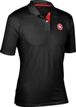 Castelli Race Day Polo Shirt - Men's Black, S