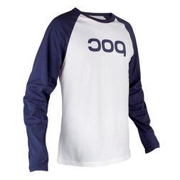 POC Raglan Jersey Skateboarding T-Shirt, Dubnium Blue/Hydrog