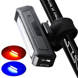 instaFACTOR Rear Bike Light usb Rechargeable Back Bicycle Li
