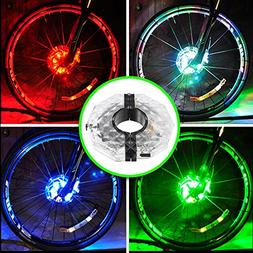 Alritz Rechargeable Bike Wheel Hub Lights, Waterproof 3 Mode