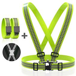 Reflective Vest Straps NEW Premium Design + 1 Pair of High V