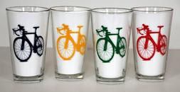 Road Bike Pint Glasses - Set of Four