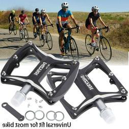 Road Mountain Bike Platform Pedals Wide Flat MTB Aluminum Se