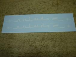 Schwinn Approved Stingray White Top Tube Bicycle Decal Set &