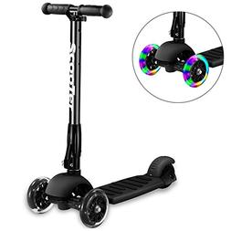 Greentest Scooter Foldable Adjustable Height Easy Turning 3
