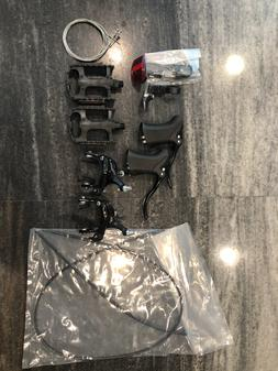 set of bike parts