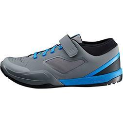 SHIMANO SH-AM7 Mountain Bike Shoes - Men's Grey/Blue; 45
