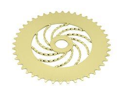 Single Twisted Sprocket Gold 44t, Lowrider Bike Parts