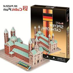 3D Jigsaw Puzzle - Speyer Cathedral, Germany : Model parts :