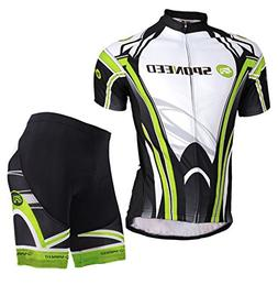 sponeed Bicycle Jersey Men Shorts Cycling Clothing Padded Ti