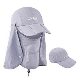 ICOLOR Sun Caps Flap Hats 360°Solar Protection Folding UPF