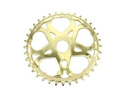 Lowrider Sweet Heart Sprocket 36t 1/2 X 1/8 Gold. for bicycl