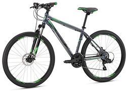 "Mongoose Men's Switchback Sport 27.5"" Wheel, Silver, 20 inch"