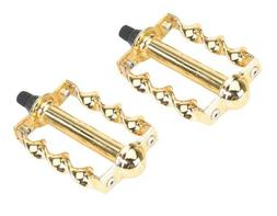 """Twisted Pedals 1/2"""" W/Logo Gold. Bike pedals, bicycle pedal,"""