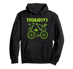 Unisex Cycologist   Bike Parts Distressed Hoodie XL: Black