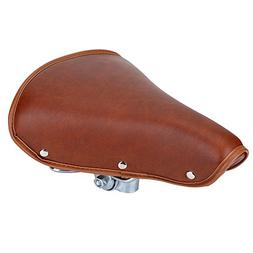 Vintage Bicycle Saddle Classic Comfort Brown Leather Bicycle