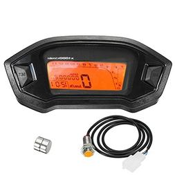 CoCocina Universal Motorcycle LCD 2-4 Cylinder KMH Speedomet
