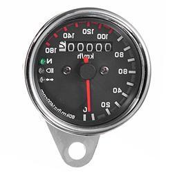 CoCocina 12V Universal Motorcycle Speedometer Odometer Gauge