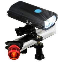 Lumintrail USB Rechargeable 800 Lumen LED Bike Light with Fr