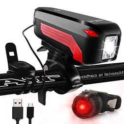 JowBeam USB Rechargeable Gear Bike Light and Horn Set 400 Lu