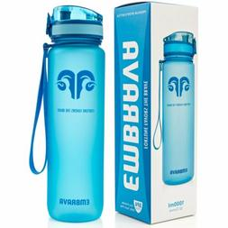 Embrava Best Sports Water Bottle - 32oz Large - Fast Flow, F
