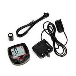 Waterproof 15 Function LCD Bike Bicycle Odometer Speedometer