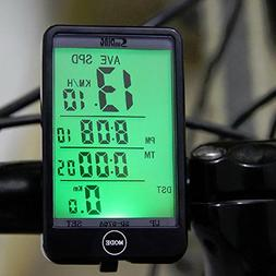Waterproof Auto Bike Computer Light Mode Touch Wired Bicycle
