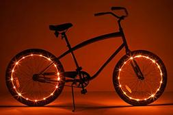 Brightz WheelBrightz LED Bicycle Wheel Accessory Light , Ora