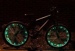 Bikes On Hikes Bike Wheel Spoke Light String - 2 Tire Set -