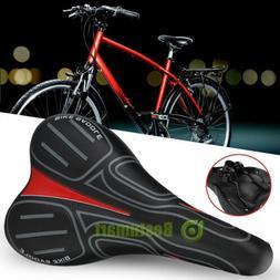 Wide Bike Saddle Noseless Bicycle Seat Bum Soft Gel Breathab