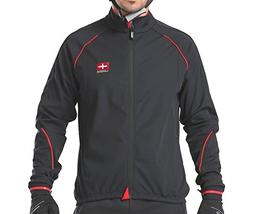 4ucycling Windproof Black Cycling Jacket, Black, WEIGHT:125-