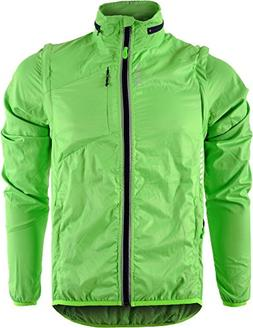 SILVINI Men's Windproof Jacket Vetta MJ1219 Green-Navy 5XL