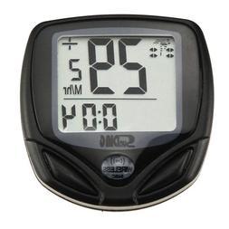 MuchBuy Wireless Cycle Bicycle Bike LCD Computer Speedometer