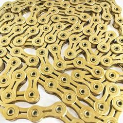 KMC X10SL Gold Bike chain 116 links 10 speed Ti-N Road MTB F