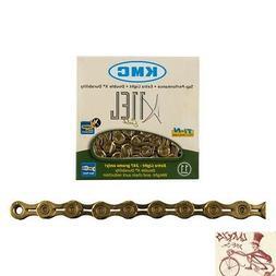 KMC X11EL Chain: 11-speed, 118 Links, Ti-Nitride Gold