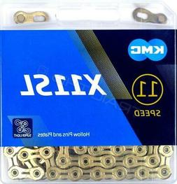 KMC X11SL 11 Speed 116L Bike Chain, Titanium Gold