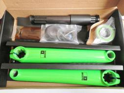 XPOSURE FIGHT CRANK SET 175MM LIME GREEN MOUNTAIN BIKE PARTS