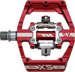 HT COMPONENTS XS-SX BMX PEDALS RED 85X94X14MM CLEAT INCLUDED