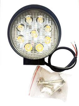 Good Voice 27W Yellow LED Spot light Headlight Strip Round W