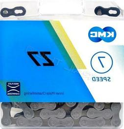 "KMC Z7/Z50 5/6/7-Speed Bicycle Chain 116L 1/2"" x 3/32"" Road"